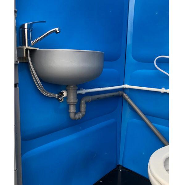 Toaleta cabina ecologica racordabila cu lavoar ICTET03A (Albastru)