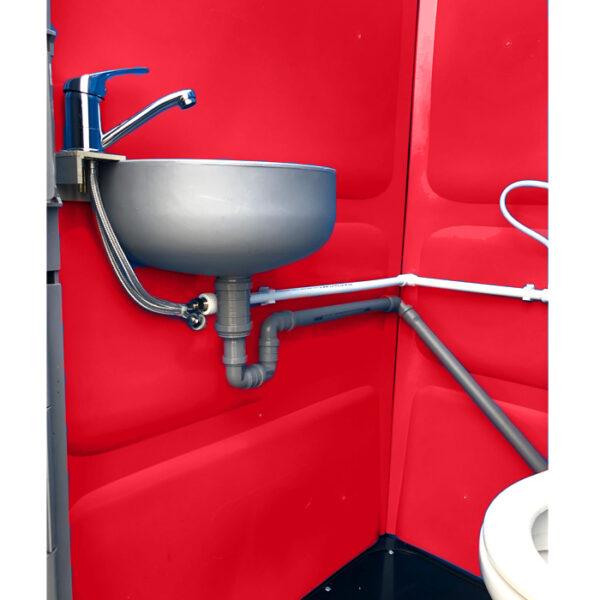 Toaleta cabina ecologica racordabila cu lavoar ICTET03R (Rosu)