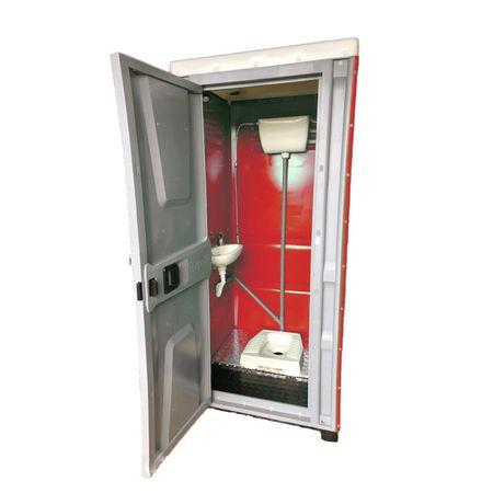 Toaleta cabina ecologica tip turcesc cu lavoar ICTET05R, Rosu